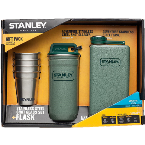 Stanley Adventure Stainless Steel - Shot Glass Set and Flask - Gift Set